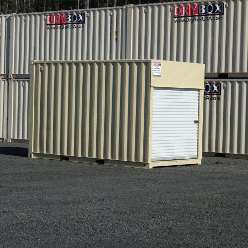 beige 10 ft container roll door