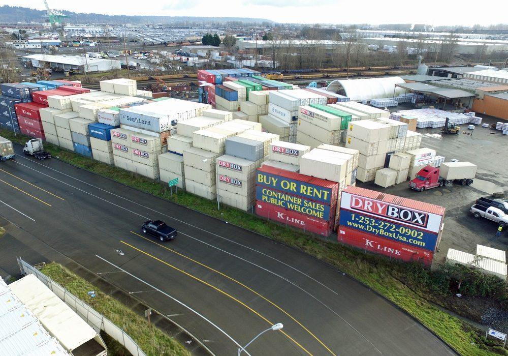 tacoma washington container yard dry box