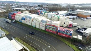 tacoma shipping container yard drybox